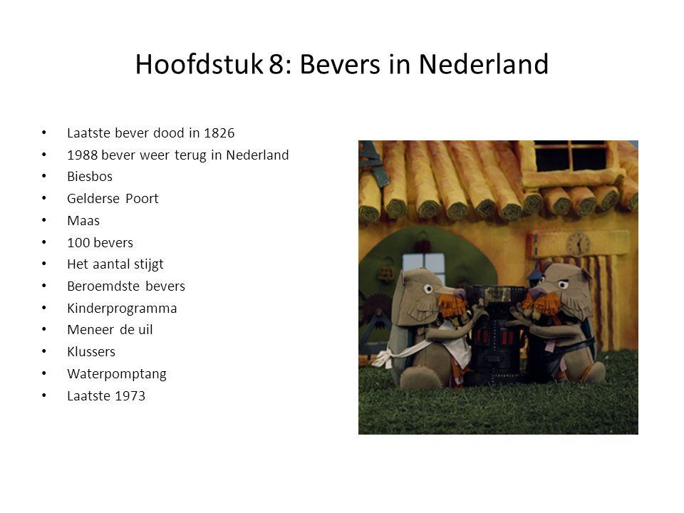 Hoofdstuk 8: Bevers in Nederland