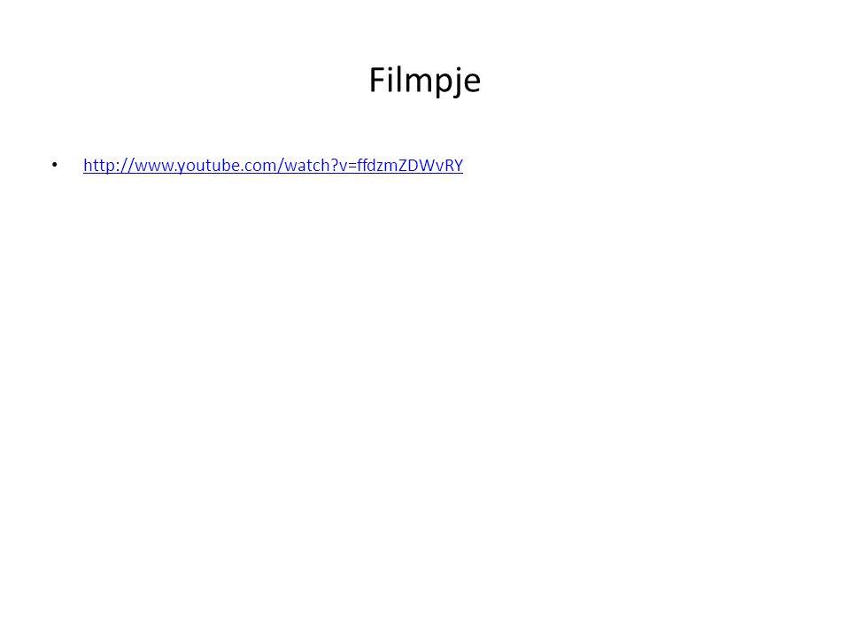 Filmpje http://www.youtube.com/watch v=ffdzmZDWvRY