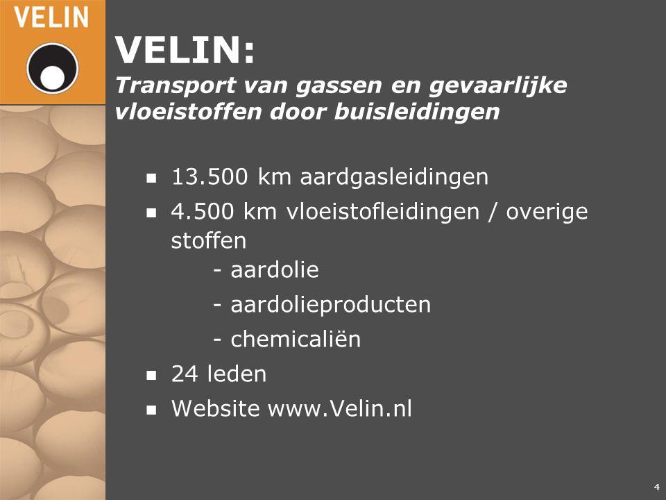 VELIN: Transport van gassen en gevaarlijke vloeistoffen door buisleidingen
