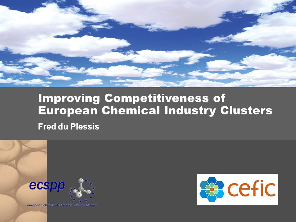Improving Competitiveness of European Chemical Industry Clusters