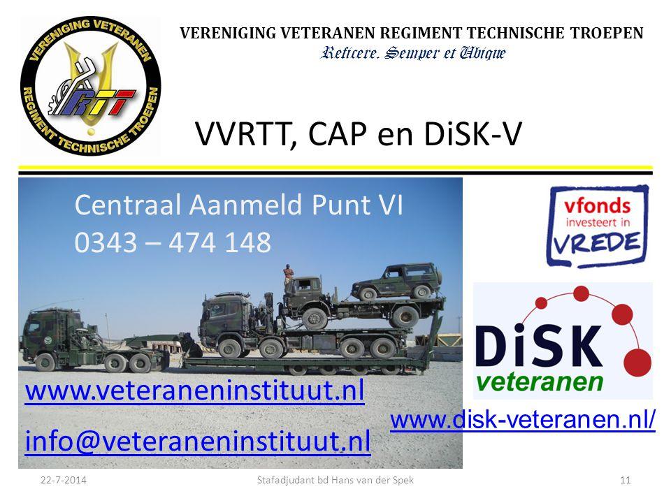VVRTT, CAP en DiSK-V Centraal Aanmeld Punt VI 0343 – 474 148