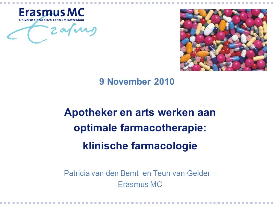 Apotheker en arts werken aan optimale farmacotherapie: