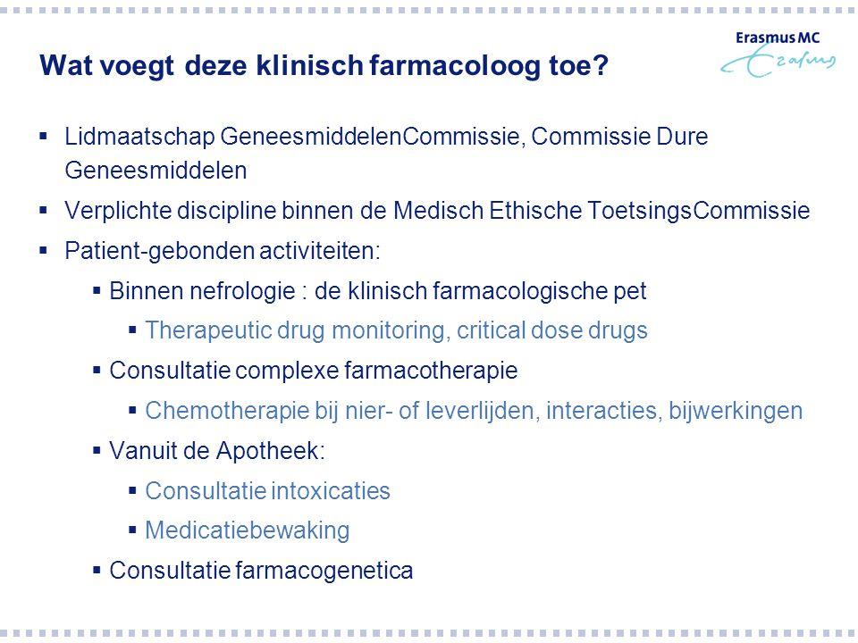 Wat voegt deze klinisch farmacoloog toe