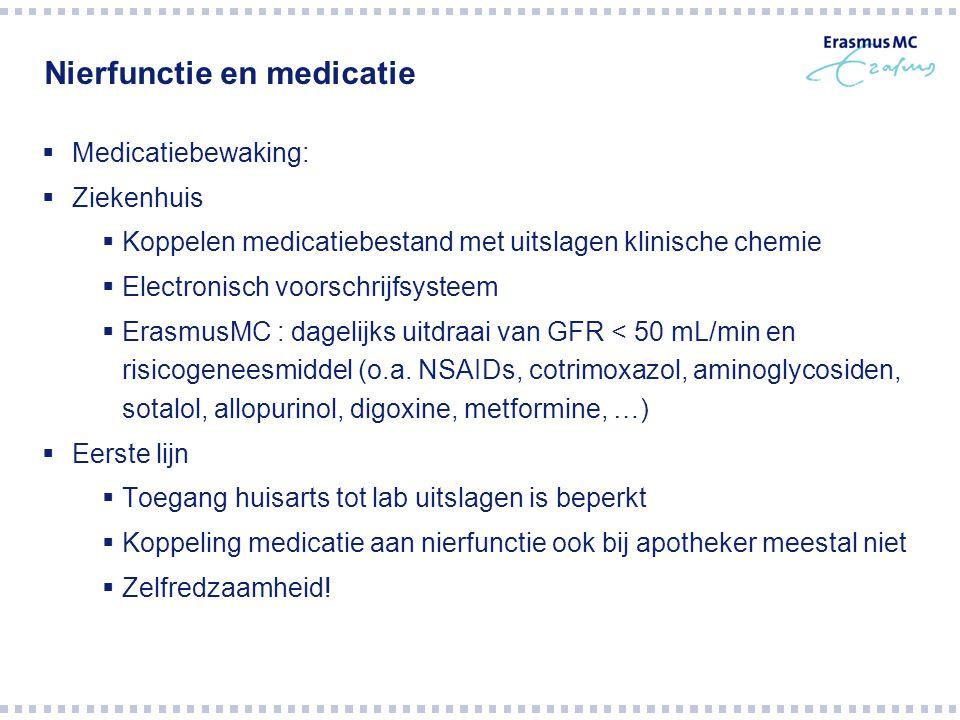 Nierfunctie en medicatie