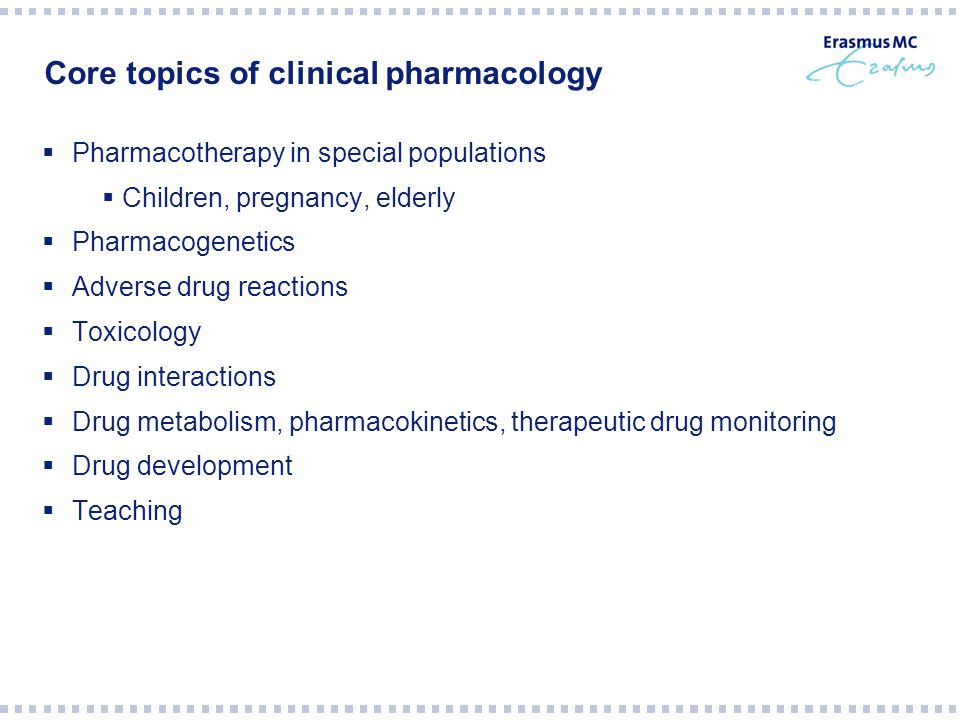 Core topics of clinical pharmacology
