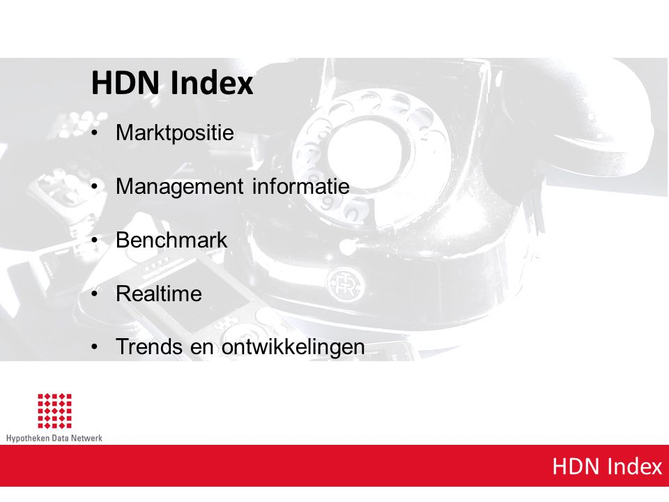 HDN Index HDN Index Marktpositie Management informatie Benchmark