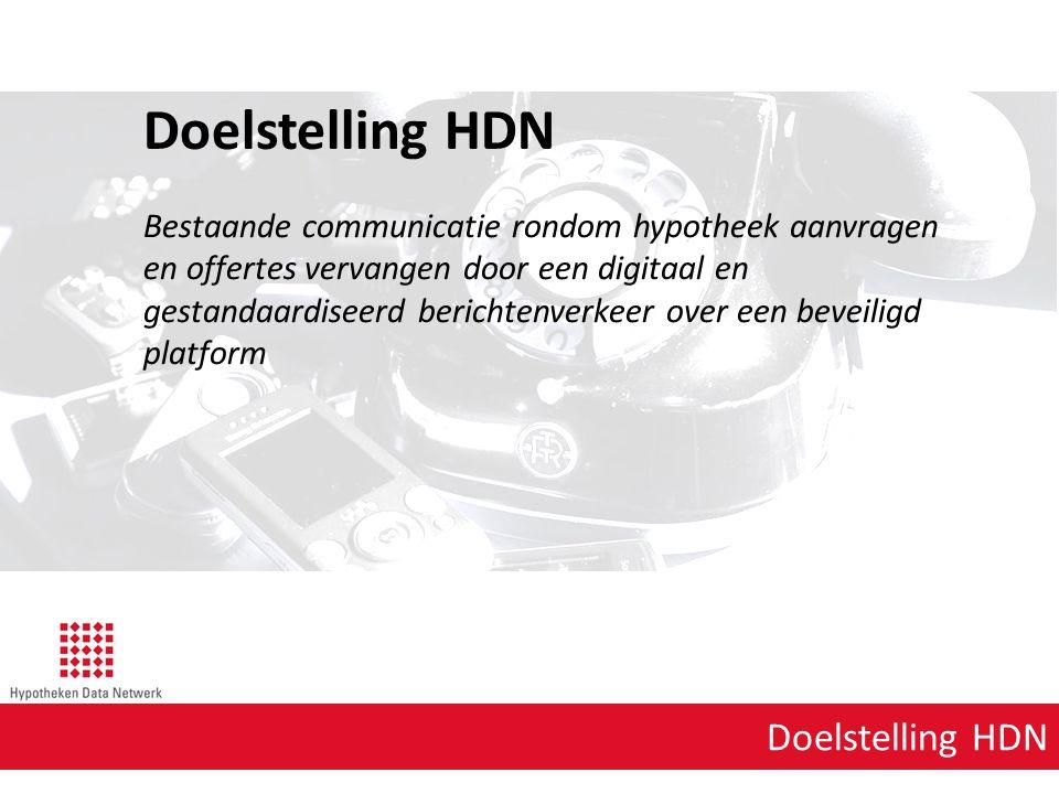Doelstelling HDN Doelstelling HDN