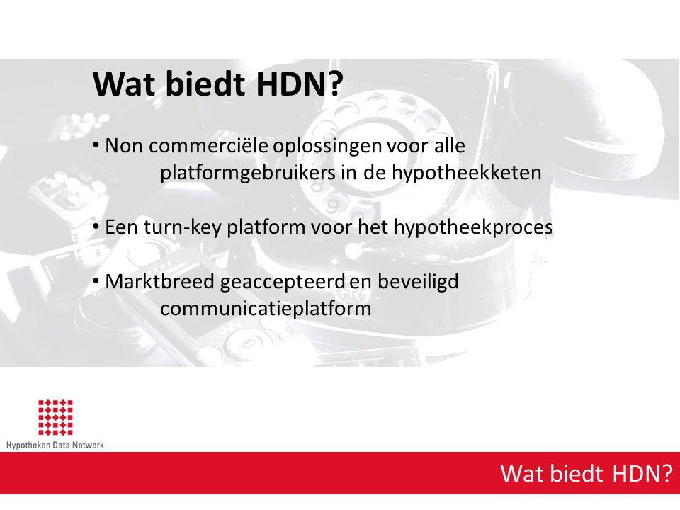 Wat biedt HDN Wat biedt HDN