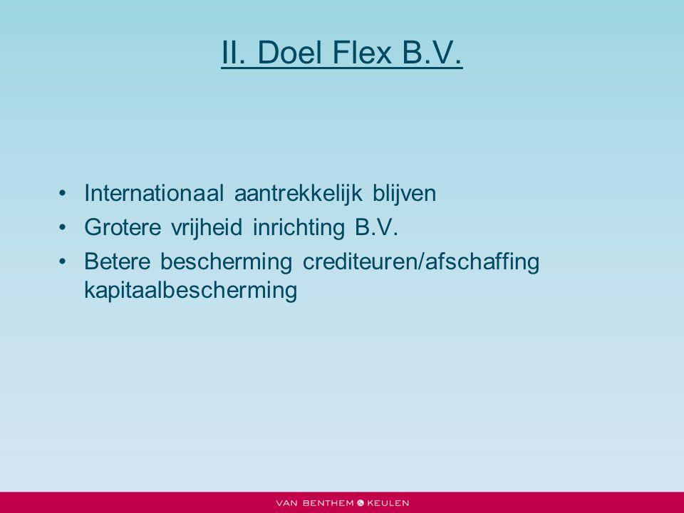 II. Doel Flex B.V. Internationaal aantrekkelijk blijven