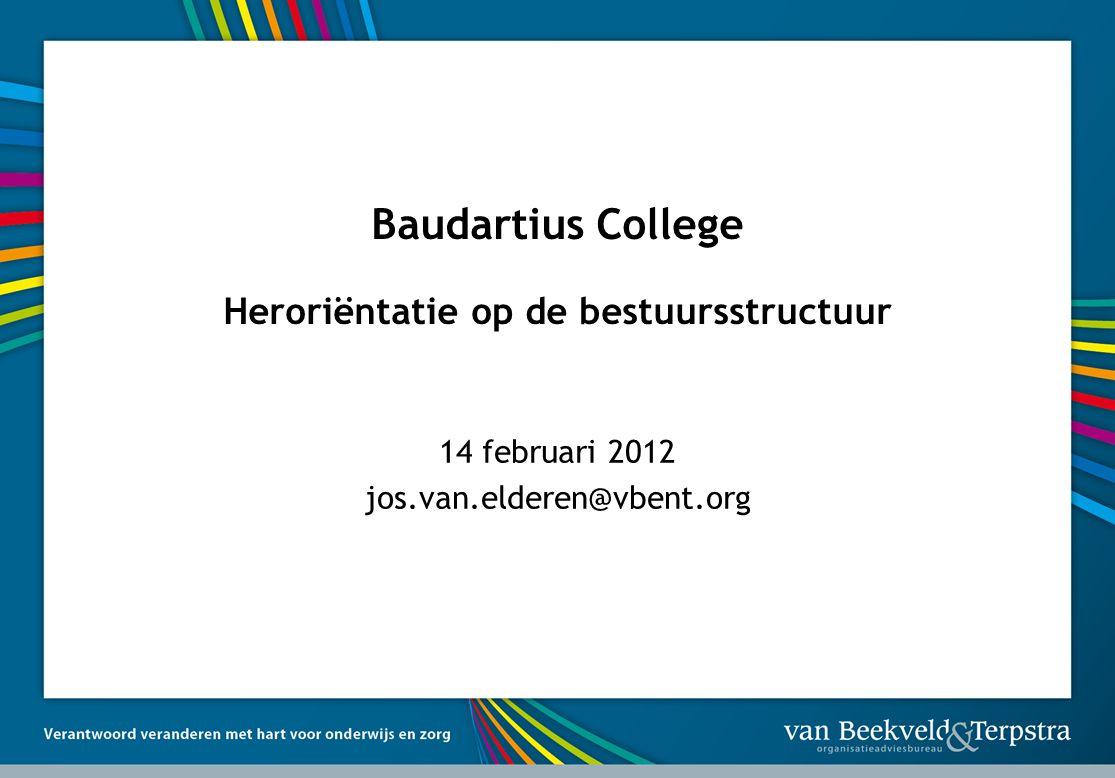 Baudartius College Heroriëntatie op de bestuursstructuur