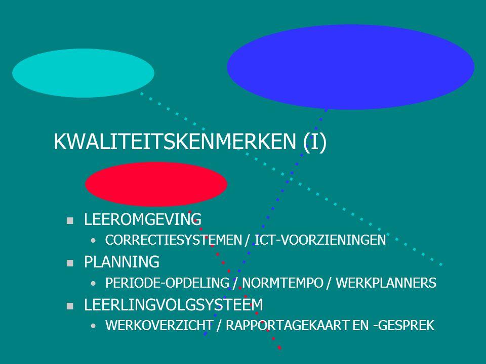 KWALITEITSKENMERKEN (I)
