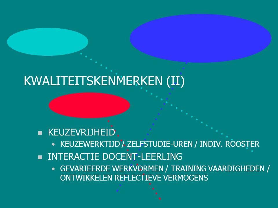 KWALITEITSKENMERKEN (II)