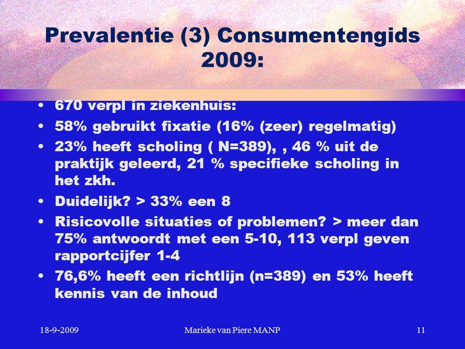Prevalentie (3) Consumentengids 2009:
