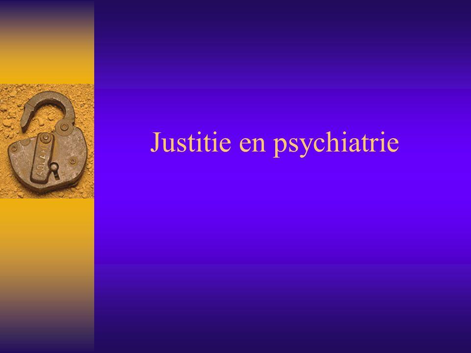 Justitie en psychiatrie