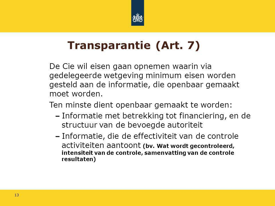 Transparantie (Art. 7)