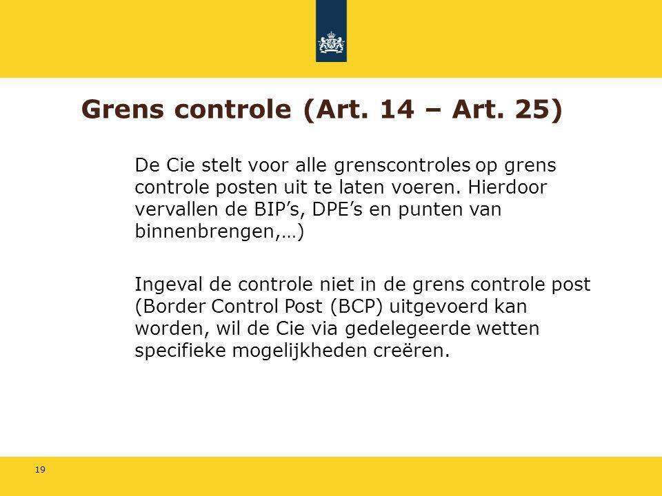 Grens controle (Art. 14 – Art. 25)