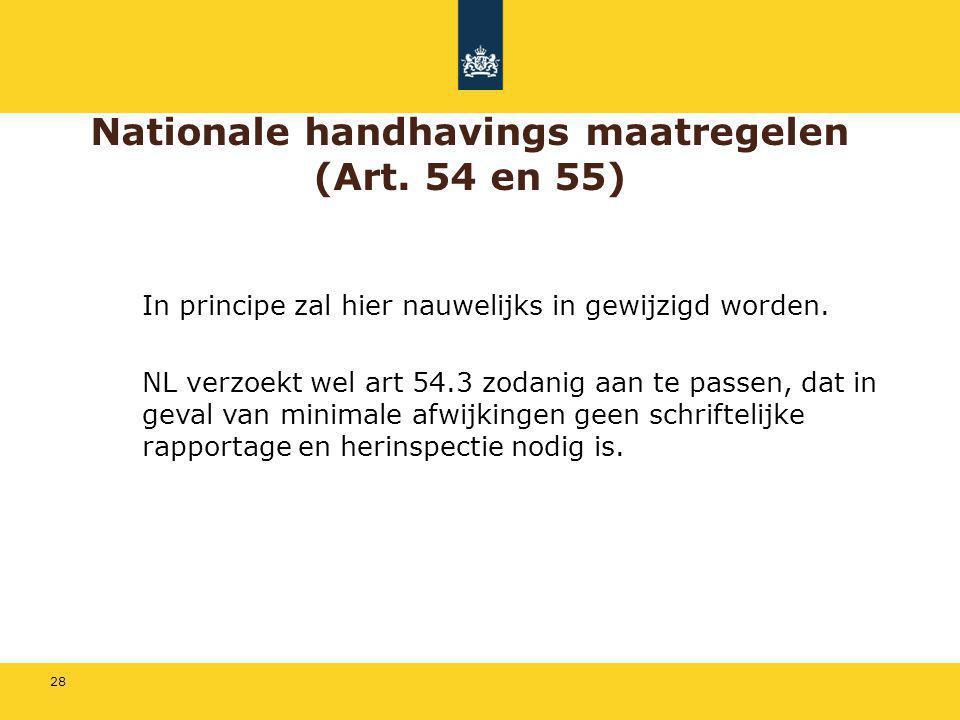 Nationale handhavings maatregelen (Art. 54 en 55)