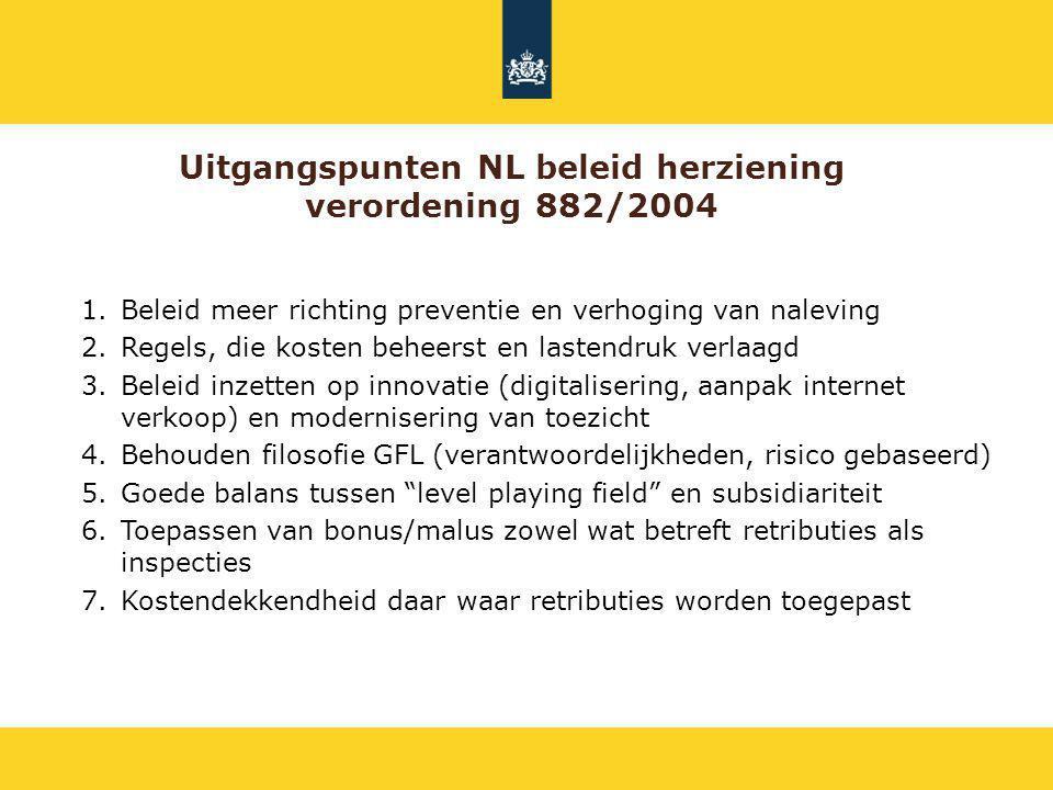 Uitgangspunten NL beleid herziening verordening 882/2004