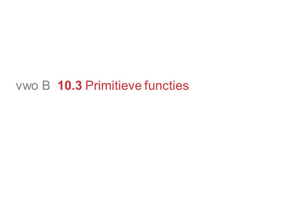 vwo B 10.3 Primitieve functies