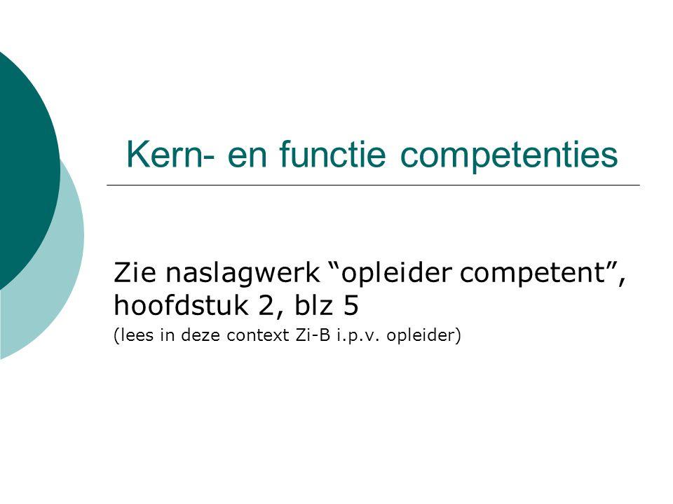 Kern- en functie competenties