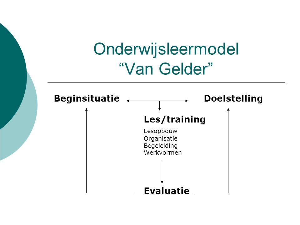 Onderwijsleermodel Van Gelder