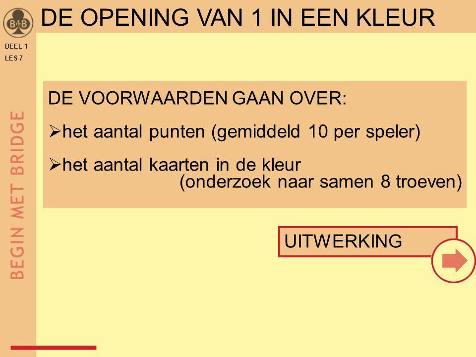 DE OPENING VAN 1 IN EEN KLEUR