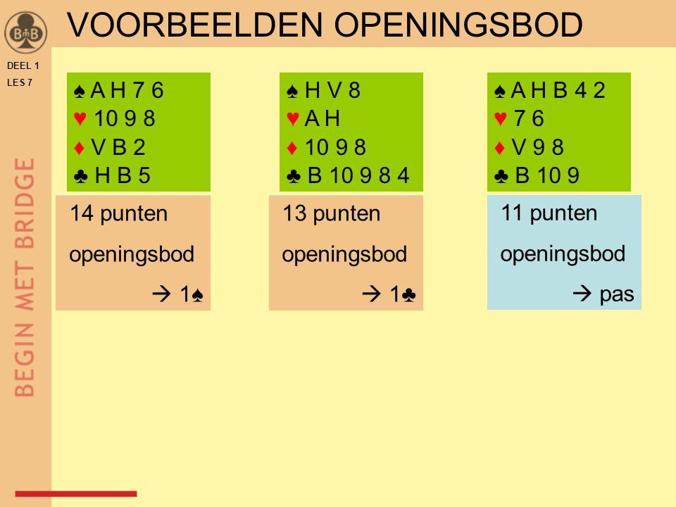 VOORBEELDEN OPENINGSBOD