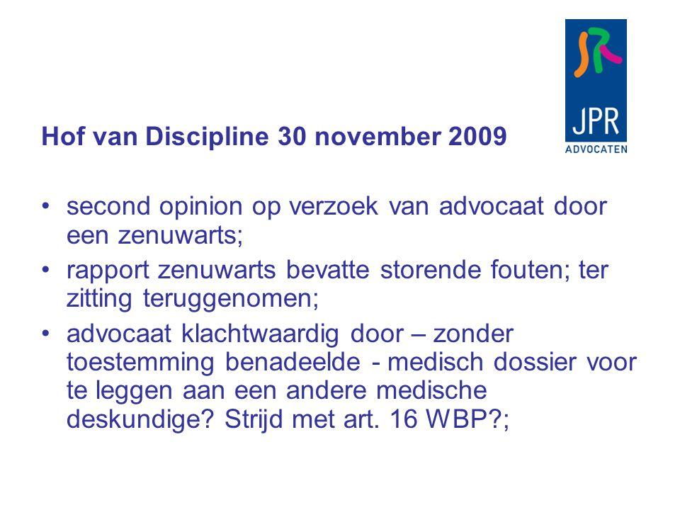 Hof van Discipline 30 november 2009