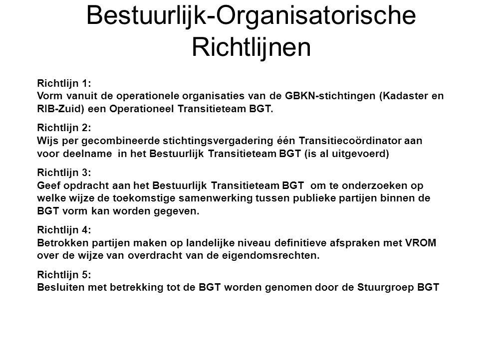 Bestuurlijk-Organisatorische Richtlijnen