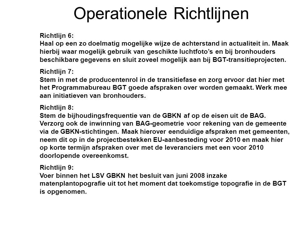 Operationele Richtlijnen