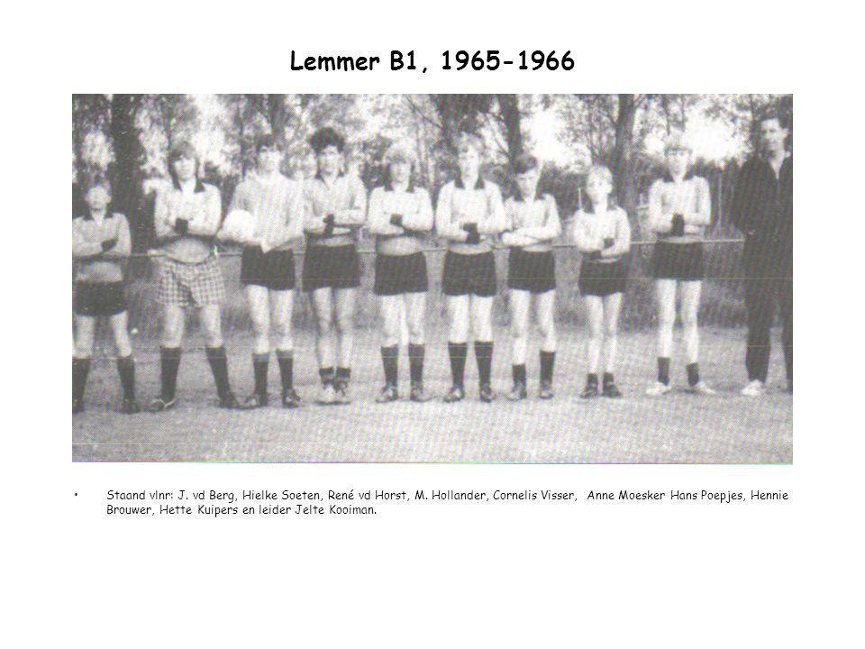 Lemmer B1, 1965-1966