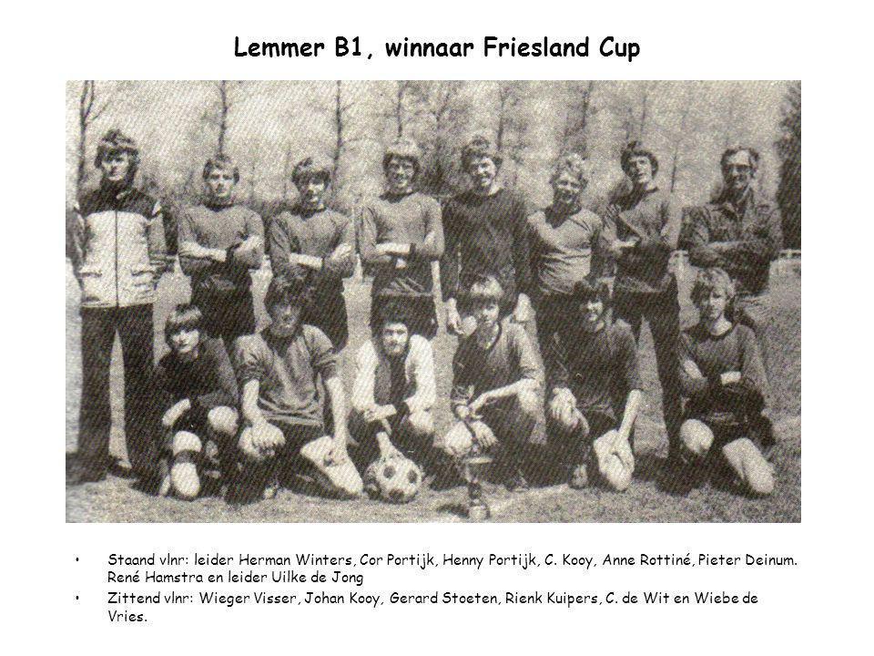 Lemmer B1, winnaar Friesland Cup