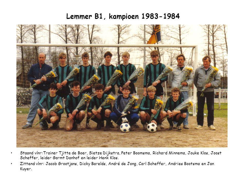 Lemmer B1, kampioen 1983-1984