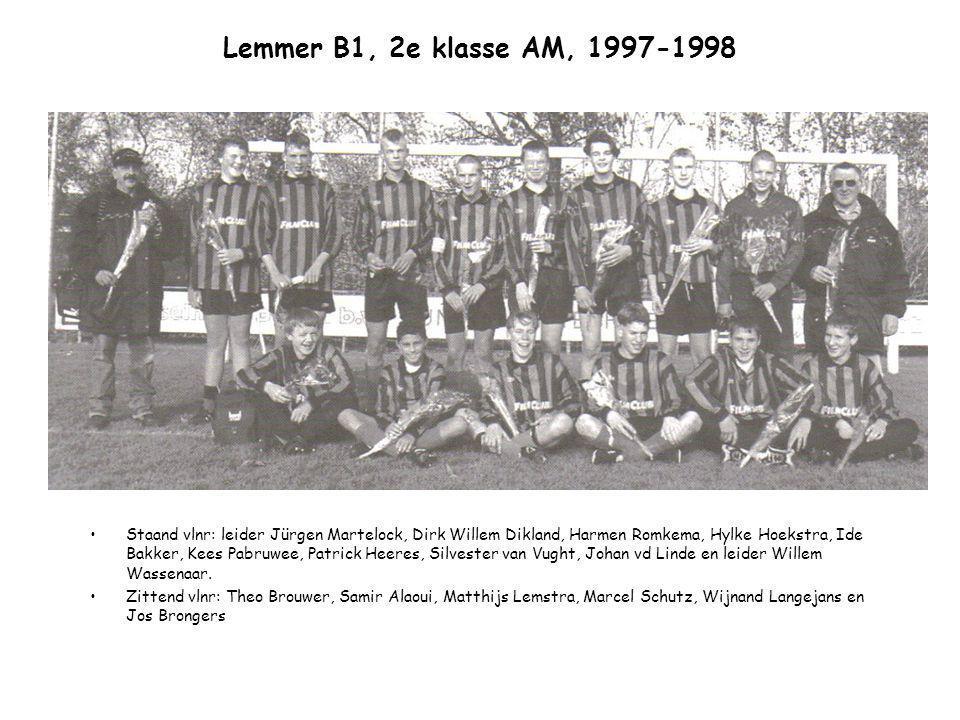 Lemmer B1, 2e klasse AM, 1997-1998
