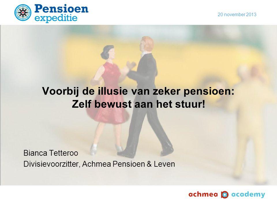 Voorbij de illusie van zeker pensioen: Zelf bewust aan het stuur!