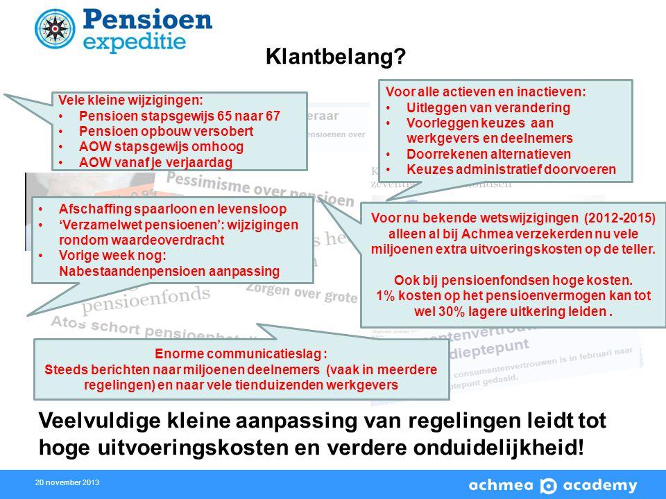 Ook bij pensioenfondsen hoge kosten. Enorme communicatieslag :