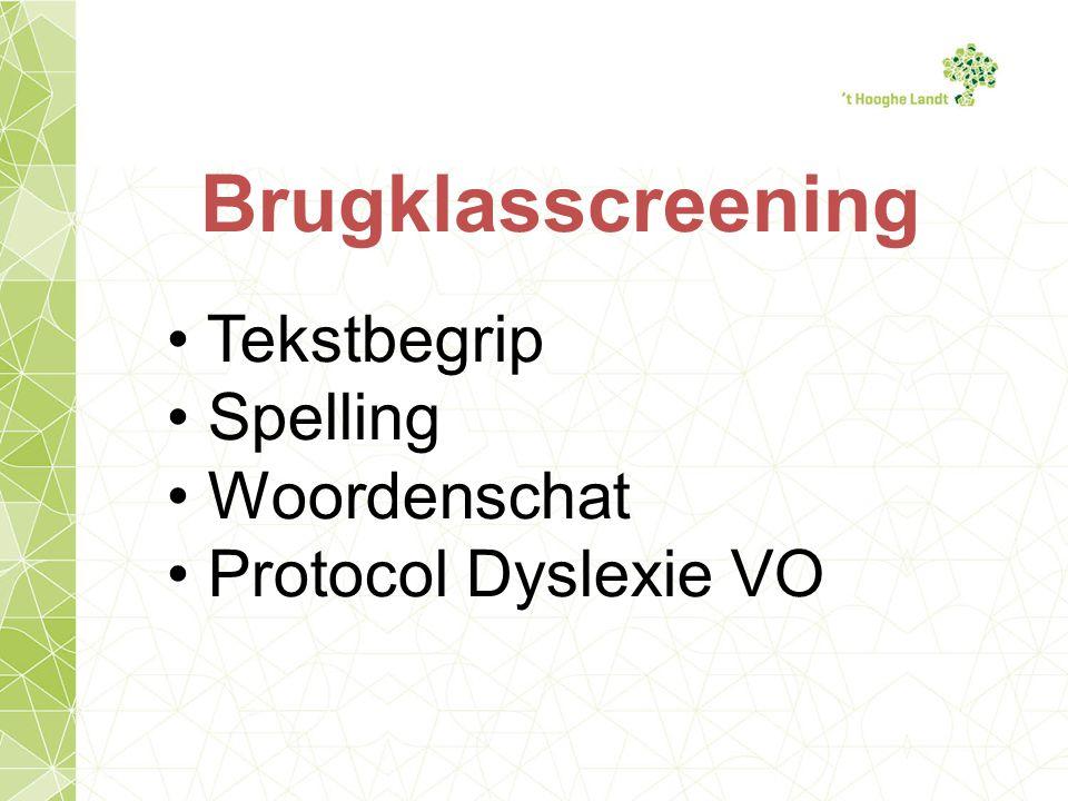 Brugklasscreening Tekstbegrip Spelling Woordenschat