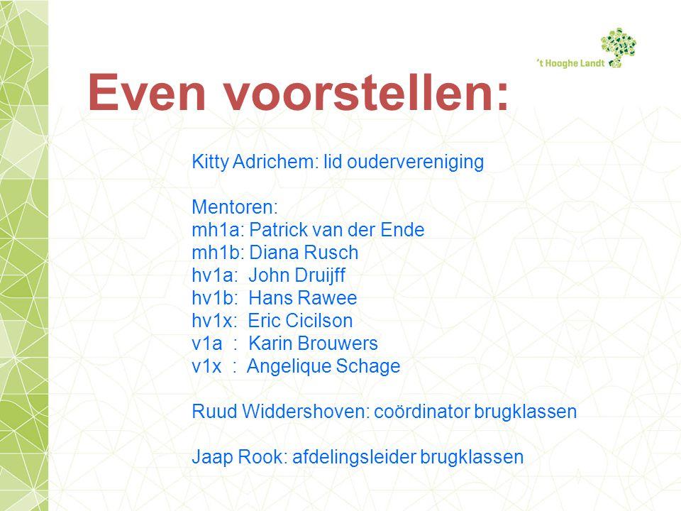 Even voorstellen: Kitty Adrichem: lid oudervereniging Mentoren: