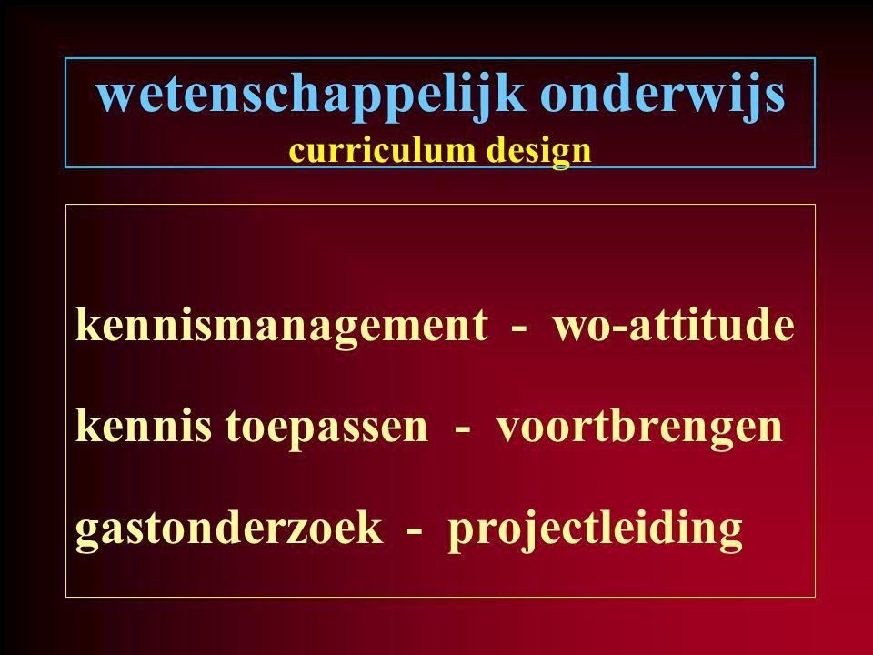 wetenschappelijk onderwijs curriculum design