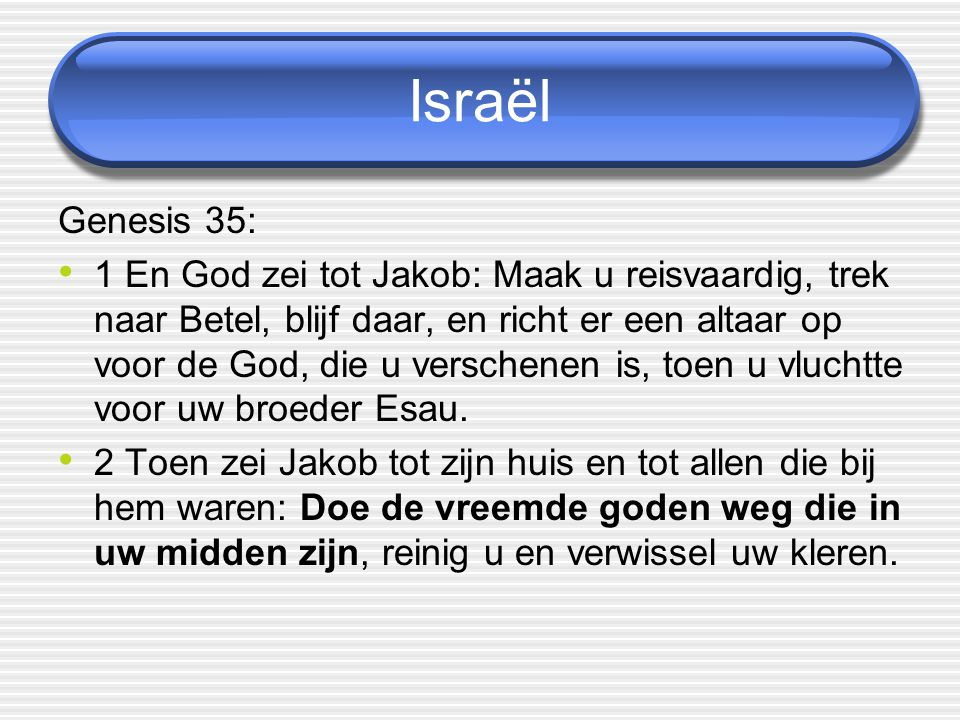 Israël Genesis 35: