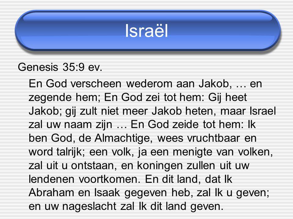 Israël Genesis 35:9 ev.