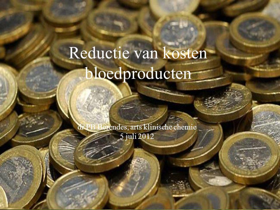 Reductie van kosten bloedproducten