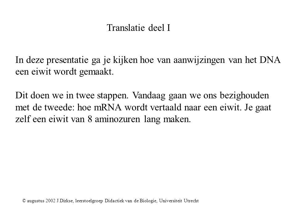 In deze presentatie ga je kijken hoe van aanwijzingen van het DNA
