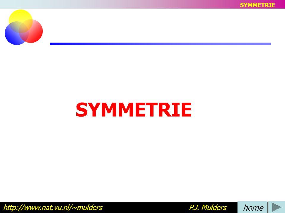 SYMMETRIE SYMMETRIE. http://www.nat.vu.nl/~mulders P.J. Mulders.