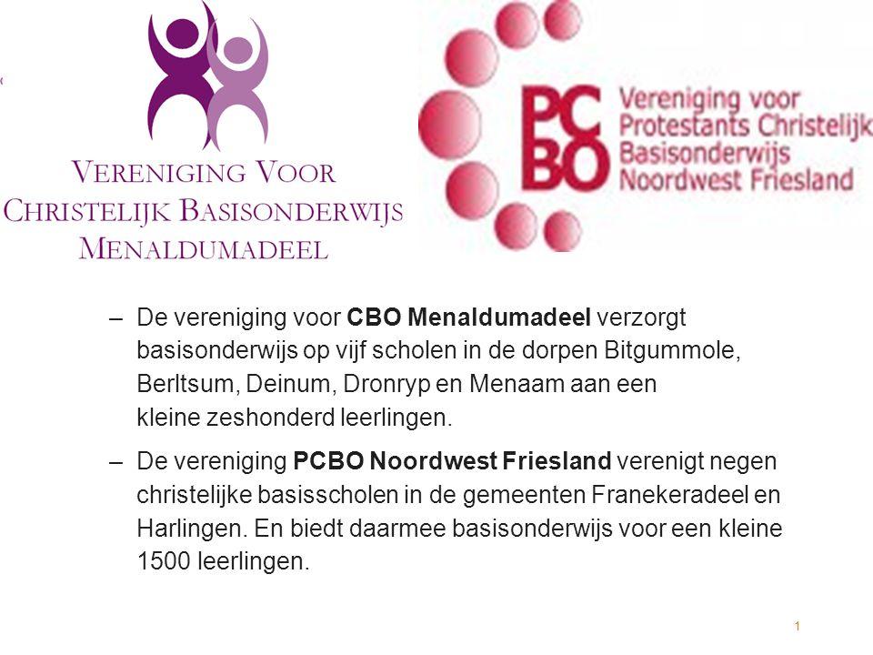 De vereniging voor CBO Menaldumadeel verzorgt basisonderwijs op vijf scholen in de dorpen Bitgummole, Berltsum, Deinum, Dronryp en Menaam aan een kleine zeshonderd leerlingen.