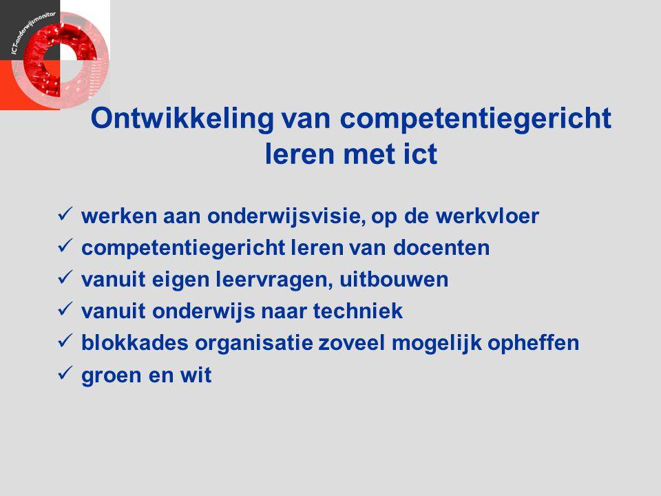 Ontwikkeling van competentiegericht leren met ict