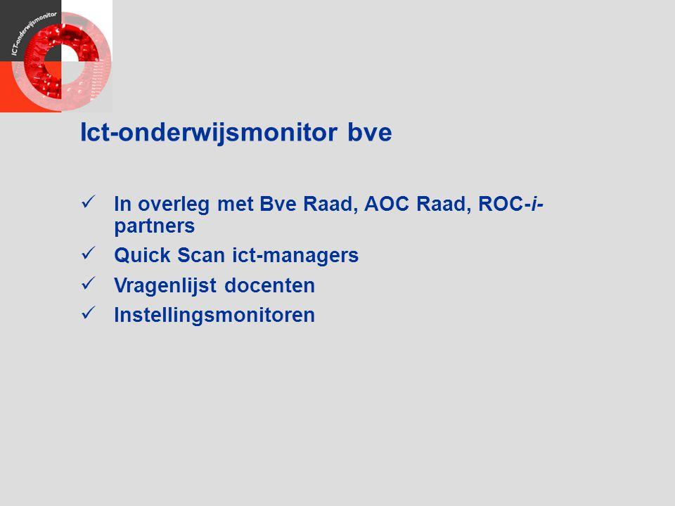 Ict-onderwijsmonitor bve