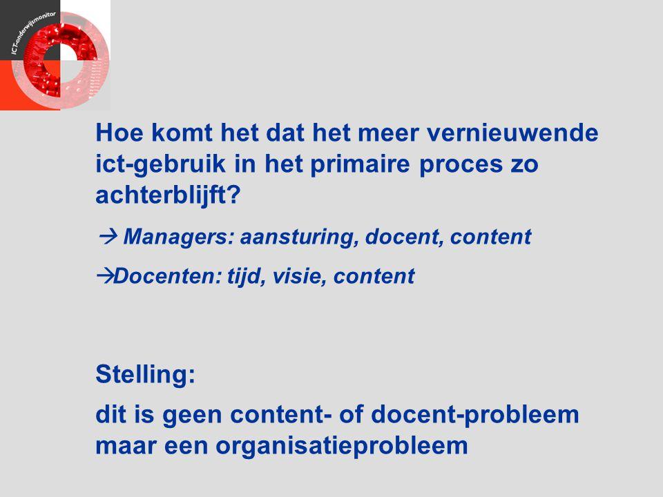 dit is geen content- of docent-probleem maar een organisatieprobleem