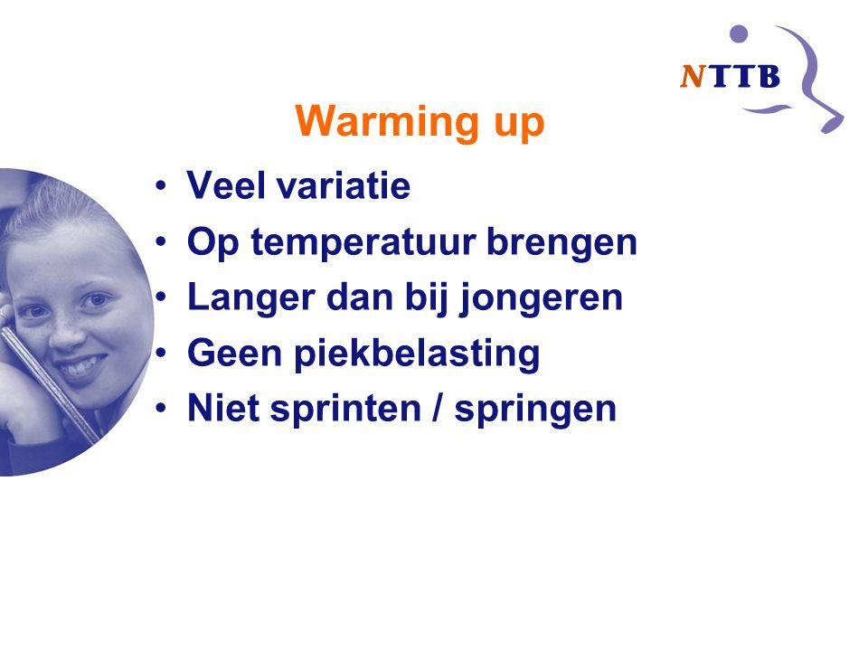 Warming up Veel variatie Op temperatuur brengen
