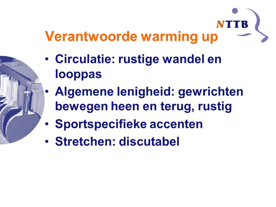 Verantwoorde warming up